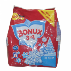 Bonux mosópor zacskós kézi 7 mosás 400 g 3in1 White Ice Fresh