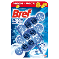 Bref wc illatosító 3x50 g Blue Aktív Chlorine