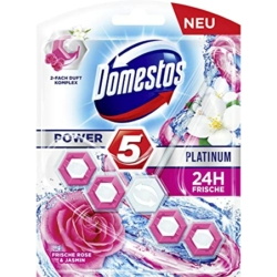 Domestos wc illatosító 55 g Power 5 Platinum Fresh Rose & Jasmine