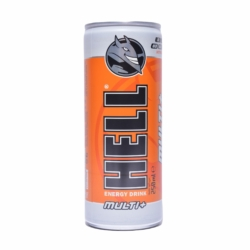 Hell Energy Drink multi+ szénsavas energiaital, vitaminokkal 250 ml