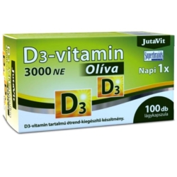 JutaVit Olíva D3-vitamin 3000NE lágyzselatin kapszula – 100db