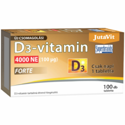Jutavit D3-vitamin Forte 4000NE tabletta – 100db