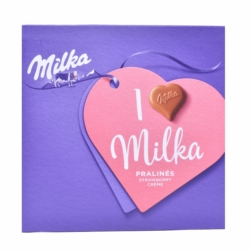 Milka I love alpesi tejcsokoládé praliné epres töltelékkel 110 g