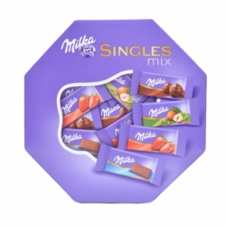 Milka Singles Mix alpesi tejcsokoládé válogatás 138 g
