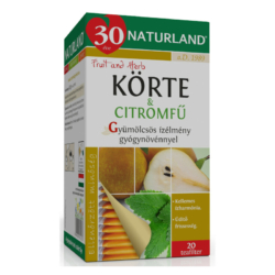 Naturland gyümölcstea körte-citromfű tea – 20 filter