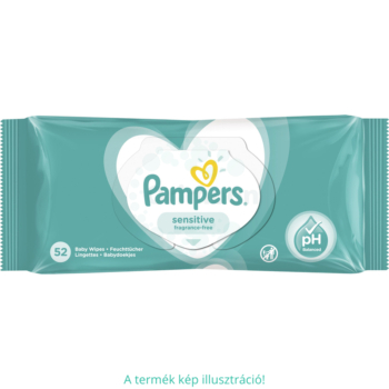 Pampers baba törlőkendő 52 db Sensitive