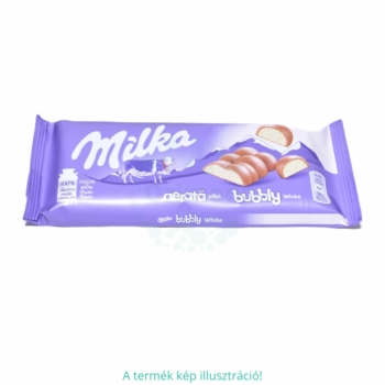 Milka Bubbly alpesi tejcsokoládé levegőbuborékos fehércsokoládé töltelékkel 95 g