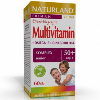 Naturland Multivitamin 50+ lágyzselatin kapszula – 60db
