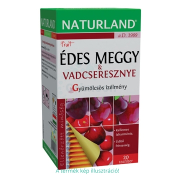 Naturland gyümölcstea édes meggy vadcseresznye tea – 20 filter