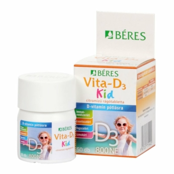 Béres Vita-D3 Kid 800NE rágótabletta 50db